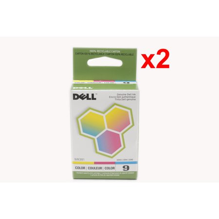 Lot of 2 New Genuine Dell Series 9 Ink Cartridge MK991 For 926 V305 V305W DX506