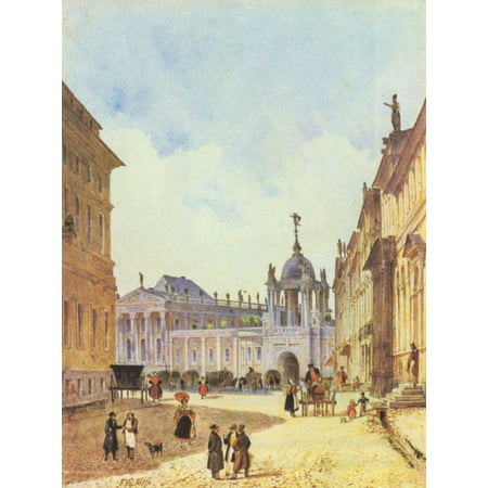 Free Altered Art Images (Framed Art for Your Wall Klose, Friedrich Wilhelm - Potsdam, Alter Markt with City Palace 10 x 13)