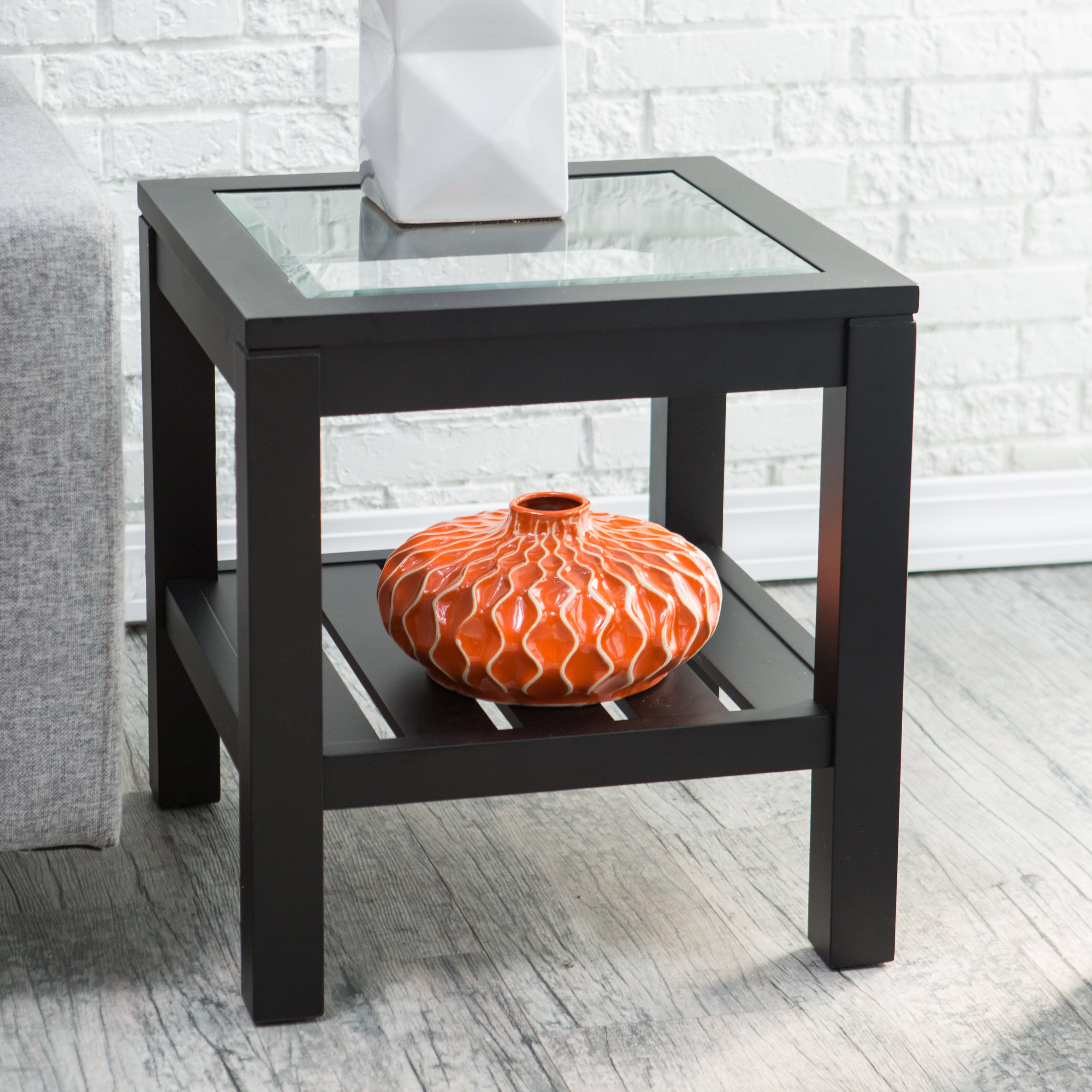Glass top end table - Glass Top End Table