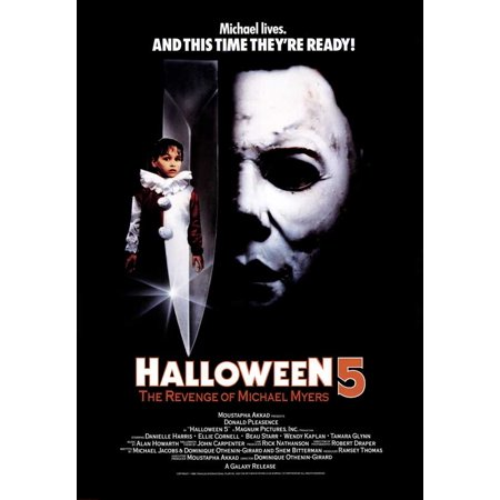 Halloween Wallpaper Michael Myers (Halloween 5: The Revenge of Michael Myers (1989) 27x40 Movie)