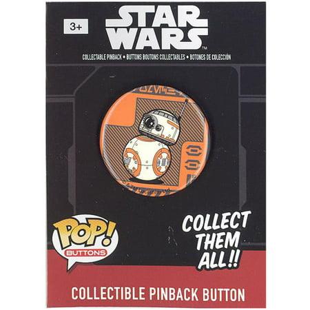 Funko Collectible Pinback Buttons - Star Wars Episode 7 - BB-8 (Orange Background) (1.25 - Star Wars Oranges
