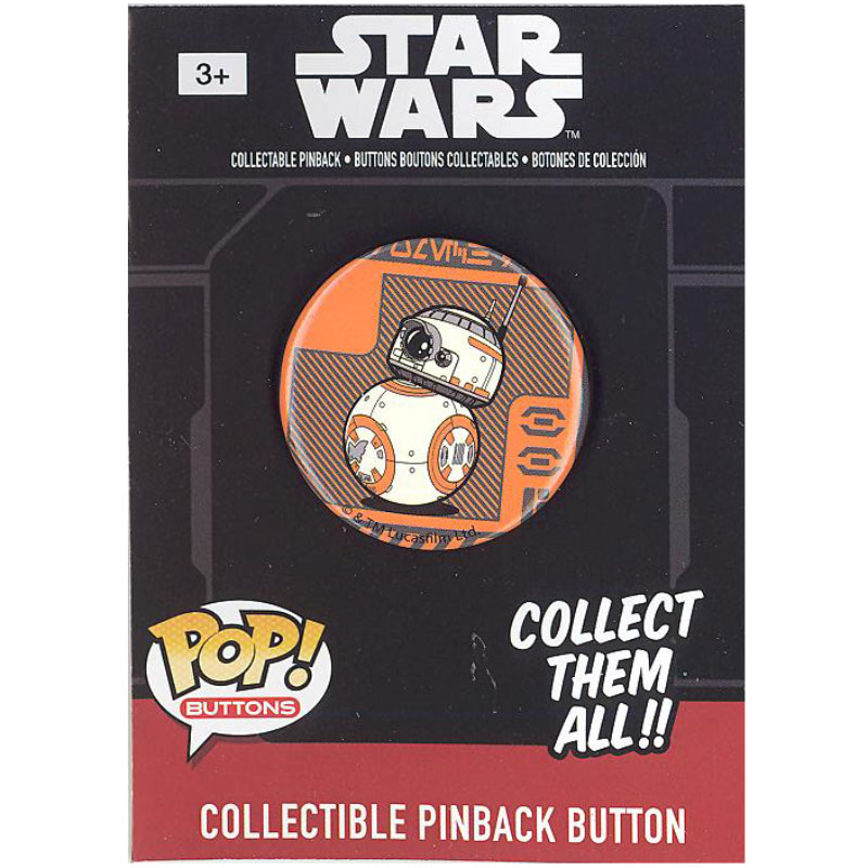 Funko Collectible Pinback Buttons - Star Wars Episode 7 - BB-8 (Orange Background) (1.25 inch)