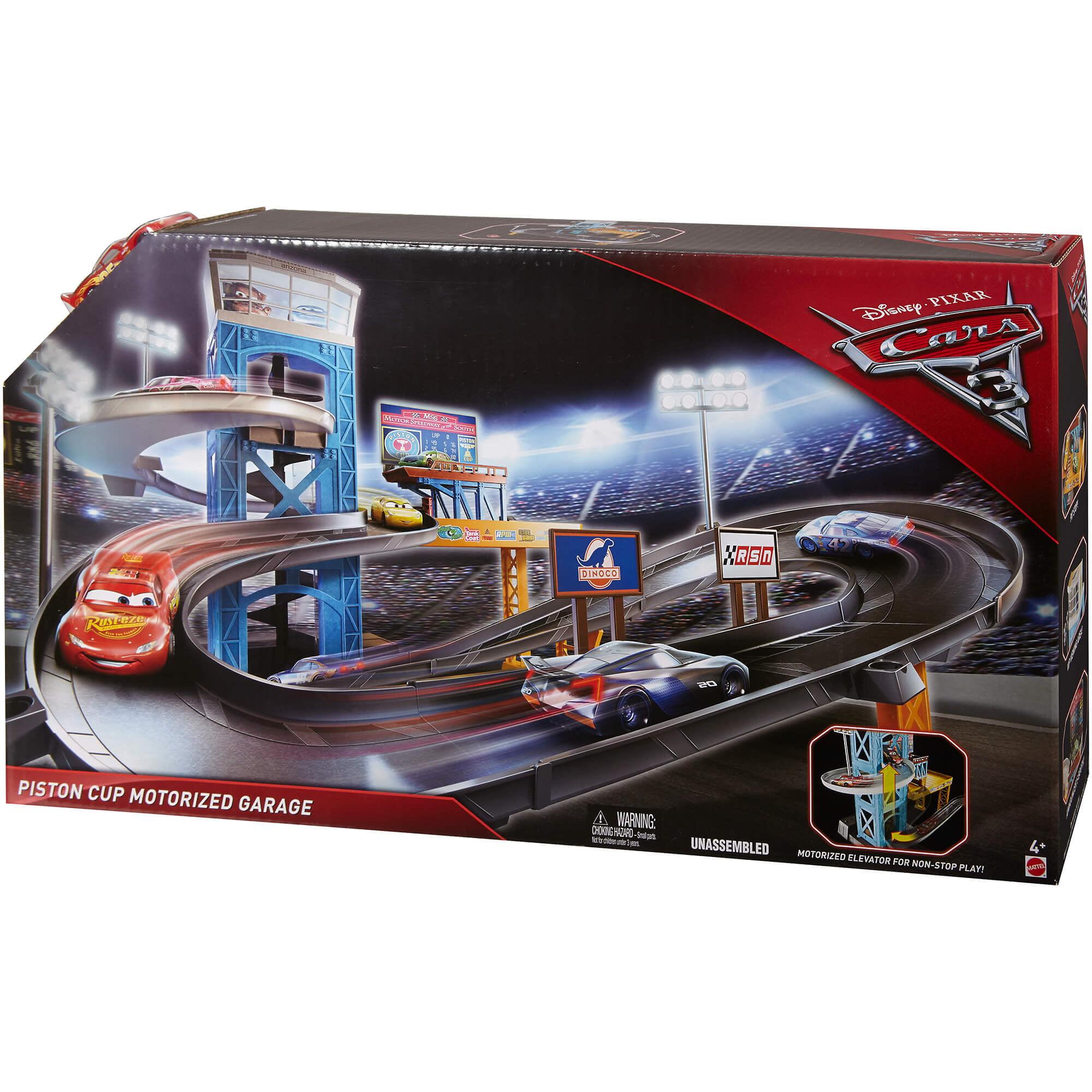 Disney Cars Cars 3 Piston Cup Motorized Garage Playset Walmart