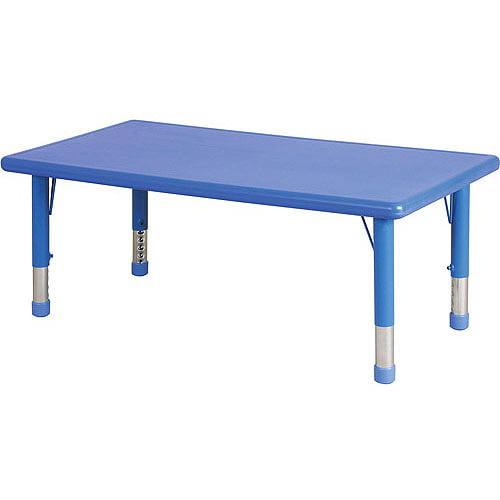 Rectangular Resin Adjustable Activity Table, Blue