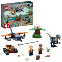 LEGO Jurassic World Velociraptor: Biplane Rescue Mission 75942 Dinosaur Toy for Preschool Kids (101 Pieces)