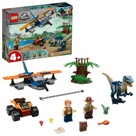 LEGO Jurassic World Velociraptor: Biplane Rescue Mission 75942 Dinosaur Building Set for Preschool Kids (101 Pieces)