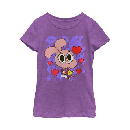 The Amazing World of Gumball Girls' Anais Hearts T-Shirt](Gumball Dress)