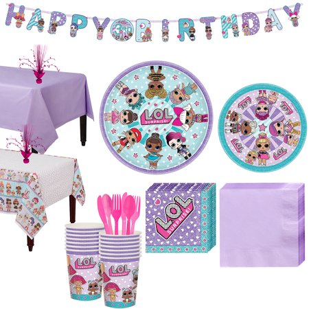 L.O.L. Surprise! Party Supplies for 16 Guests, With Tableware, Banner, and More - Surprise Banner