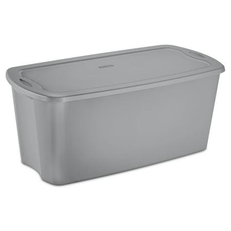 Sterilite, 50 Gal./189 L Tote Box, Titanium