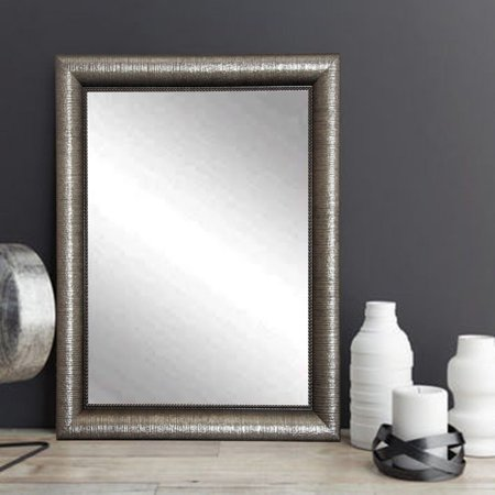 BrandtWorks American Accent Rectangle Wall Mirror - Metallic Silver