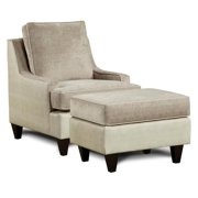 Chair with Ottoman in Lavender Finish