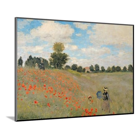 Wild Poppies, Near Argenteuil (Les Coquelicots: Environs D'Argenteuil), 1873 Wood Mounted Print Wall Art By Claude Monet (Le Monet Halloween)
