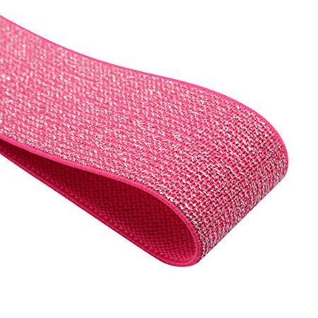 iCraft 1-1/4-inch wide by 3-yard Glitter Pink Elastic Bands - Letter I Crafts