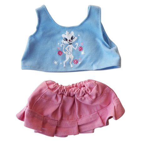 Own Kitty - Flip Skirt with Pretty Kitty Top Fits Most 14