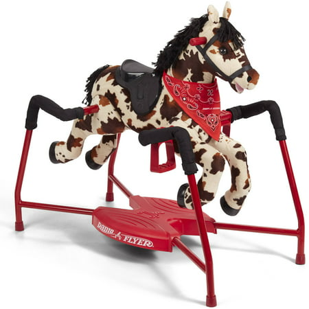 Radio Flyer, Freckles Interactive Spring Horse, Ride-on with Sounds, Plush