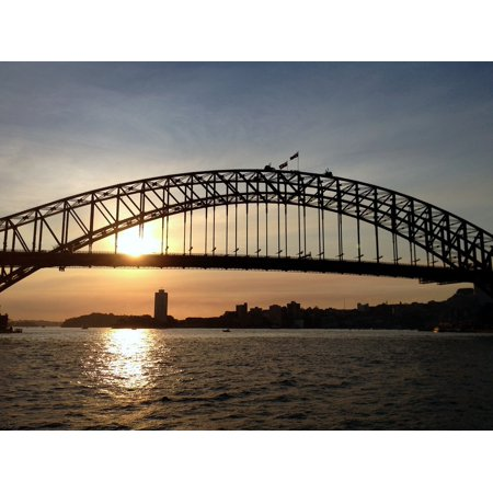 LAMINATED POSTER Sunset Landmark Harbour Architecture Bridge Sydney Poster Print 24 x 36 (Landmark Bridge)