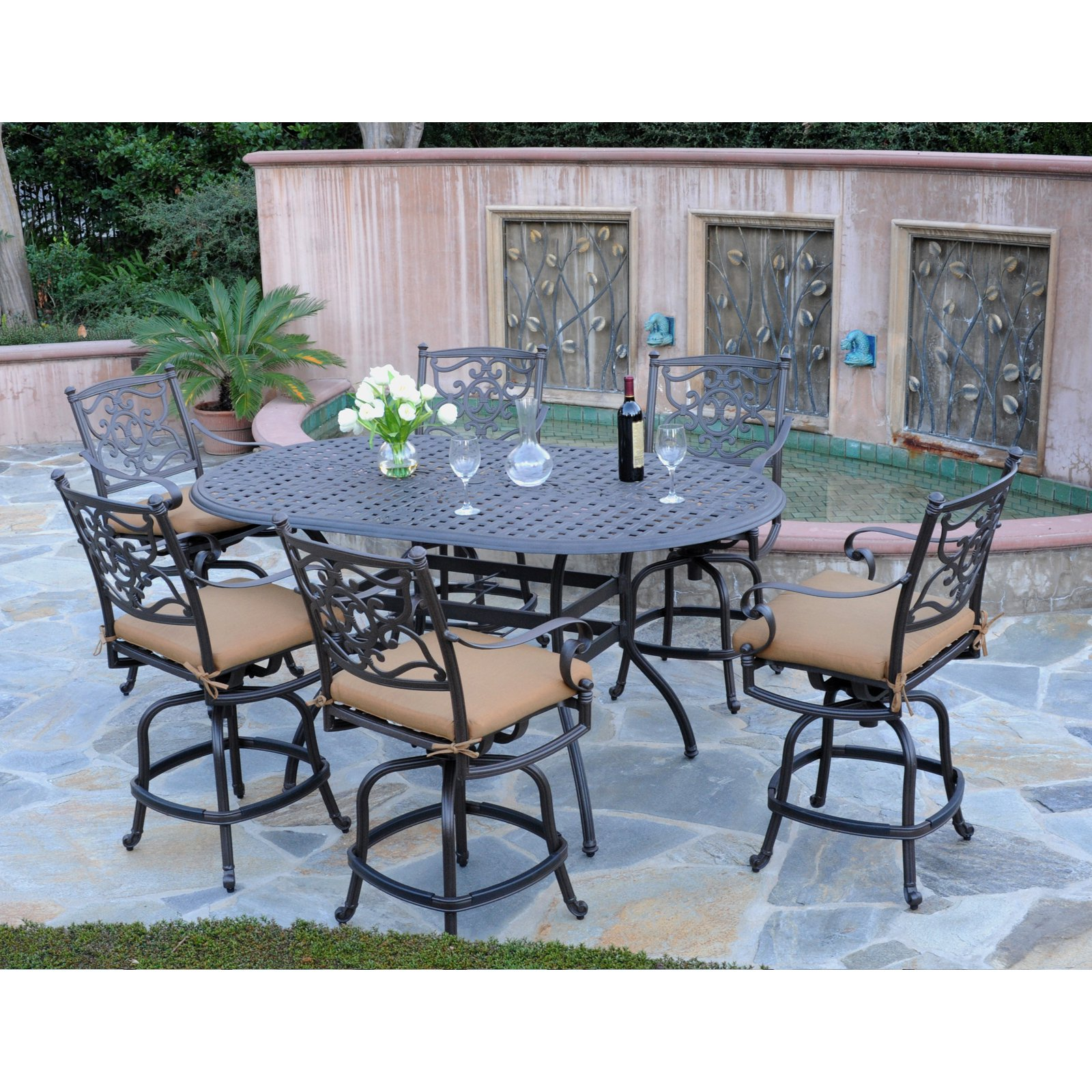 Counter Height Patio Dining Set Seats 6
