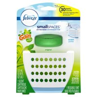 Febreze Small Spaces Air Freshener Starter Kit with Gain Original Scent, Includes One Reusable Unit and One Scent Cartridge