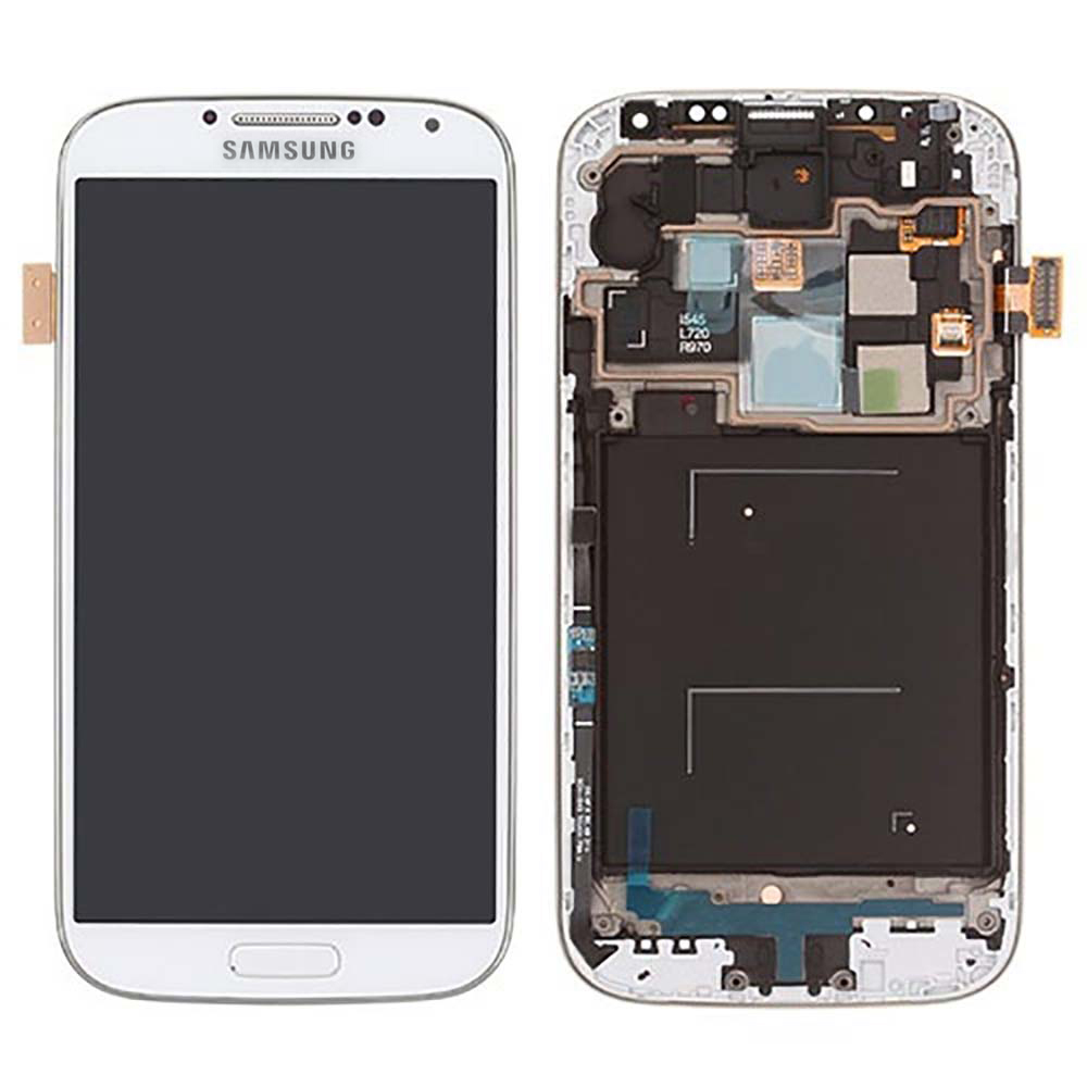 White Frost Complete LCD+Digitizer Assembly with Frame fo...