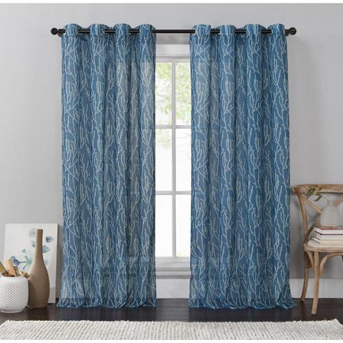 VCNY Adriana Grommet Curtain Panel Adriana-54X84-Chocolate