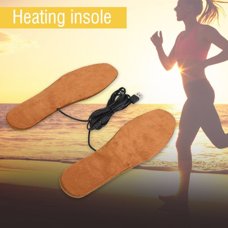 Ashata Women Men USB Electric Powered Heating Shoes Insoles Feet Warmth-Keeping Pads , Electric Powered Insoles, Heated