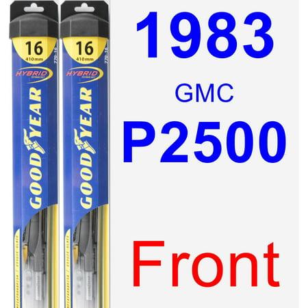 1983 GMC P2500 Wiper Blade Set/Kit (Front) (2 Blades) - Hybrid