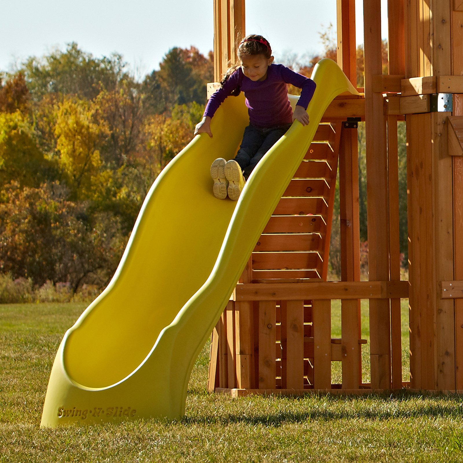 Swing-N-Slide NE 4720-1Y Alpine Wave Slide - Yellow