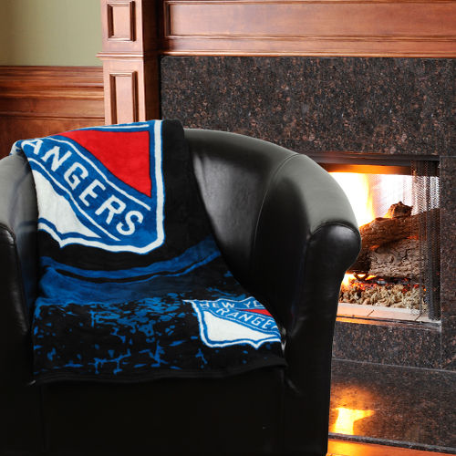 "NHL New York Rangers ""Ice Dash"" 46"" x 60"" Micro Raschel Throw"