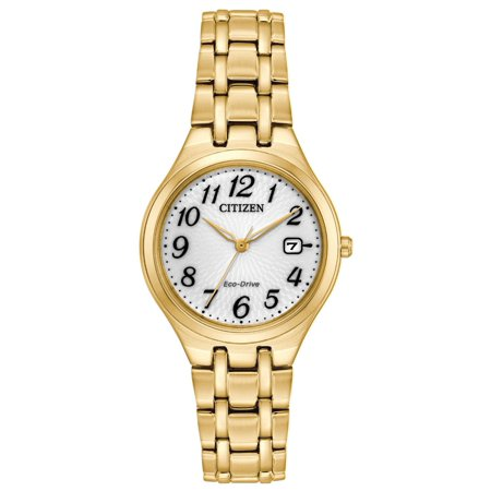 Citizen EW2482-53A Women's Corso Eco-Drive White Dial Yellow Gold Steel Bracelet - Citizen Bracelet Dress Watch