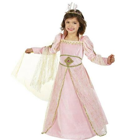 Little Girls Pink Bejeweled Princess Juliet Dress Up Halloween Costume