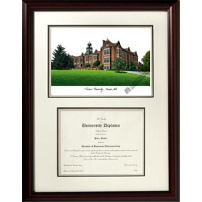 Campus Images MD999V Towson University Scholar Framed Lithograph with Diploma