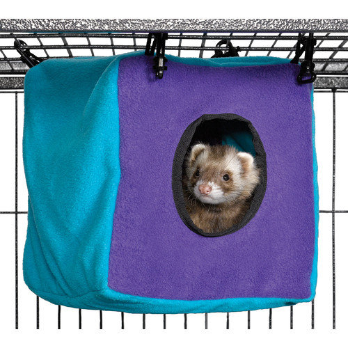 Midwest Homes For Pets Ferret Nation Accessories Cozy Cube in Teal and Purple