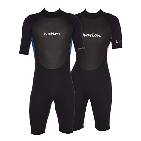 Ivation 3mm Short Wetsuit for Adult - Crafted of Premium Neoprene & Features High - Quality Zipper & Full UV Protection,Pink,Large - image 8 of 8