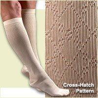 FLA Activa Women's 15-20 mmHg Cross Hatch Pattern Dress Socks - Large - Navy