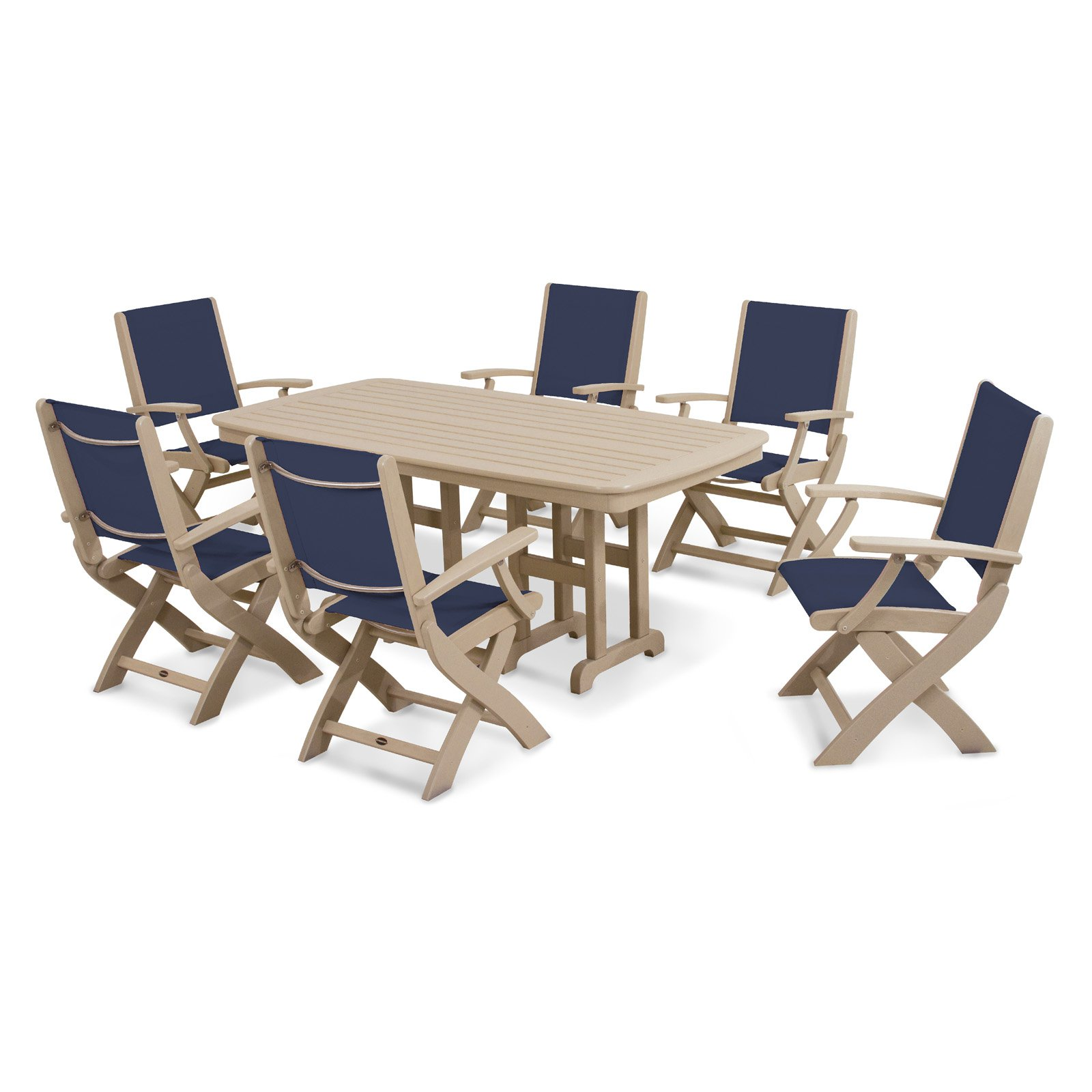 POLYWOOD® Coastal Sling Dining Set - Seats 6