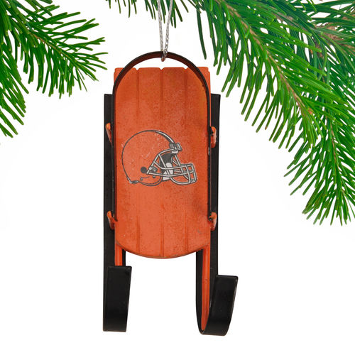 Cleveland Browns Historic Logo Historic Logo Sled Ornament
