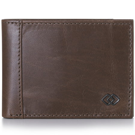 Alpine Swiss Double Diamond Mens RFID Slimfold Wallet Thin Leather Bifold Blue Bi Fold Wallet
