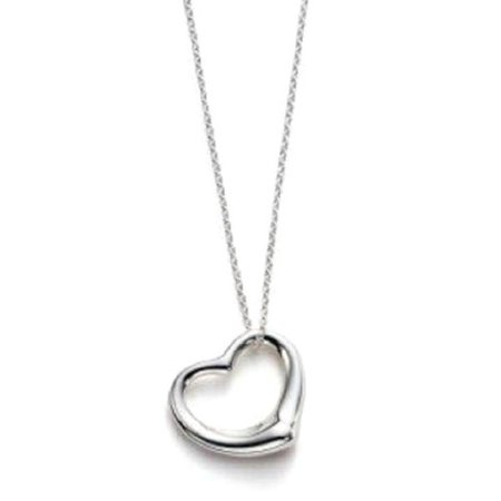 Sterling silver floating heart pendant necklace for girlfriend sterling silver floating heart pendant necklace for girlfriend women 16 mozeypictures Image collections