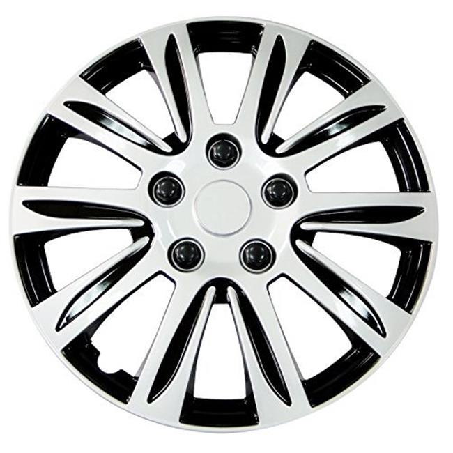 Pilot Automotive WH547-14S-B 14 in. Premier Wheel Cover, Silver