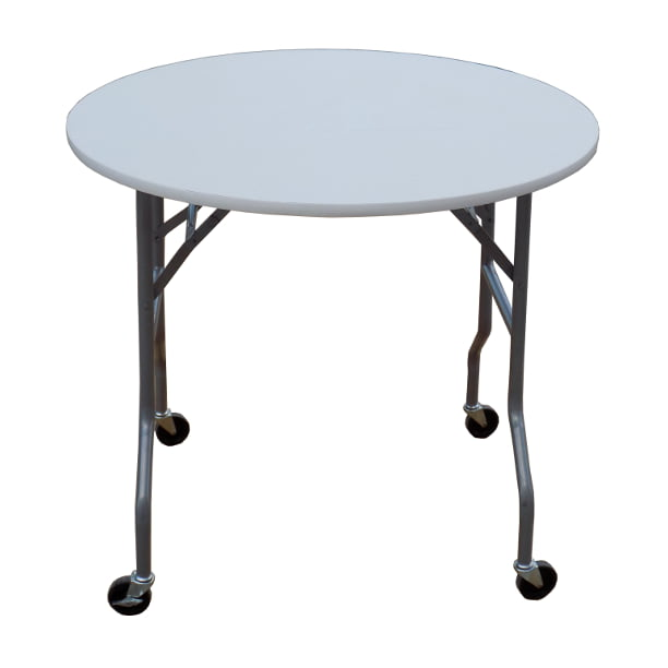Banquet Tables Pro 36 Inch Round Folding Cake Table On Wheels Walmart Com Walmart Com