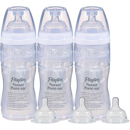 Playtex Baby Nurser With Drop Ins Liners 8Oz Baby Bottle 3 Pack