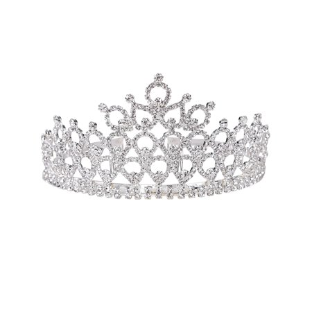 Simplicity Women's Prom Queen Crystal Rhinestones Crown - Queen Crowns And Tiaras