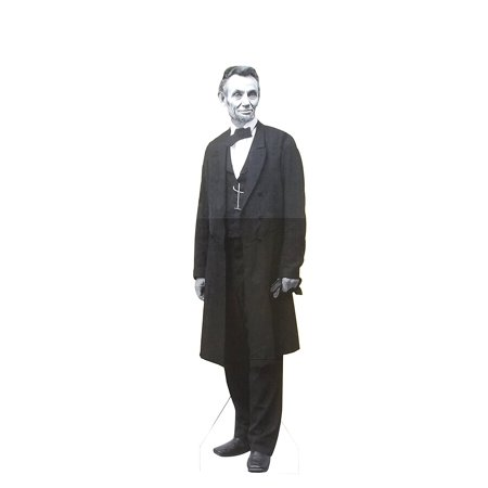 President Abraham Lincoln Life Size Cardboard Stand Up, Without Hat, 6 feet. Aahs Engraving
