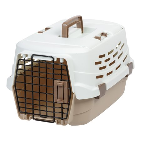 IRIS Small Easy Access Pet Travel Carrier, Off-White/Brown (Access Small Pet Carrier)