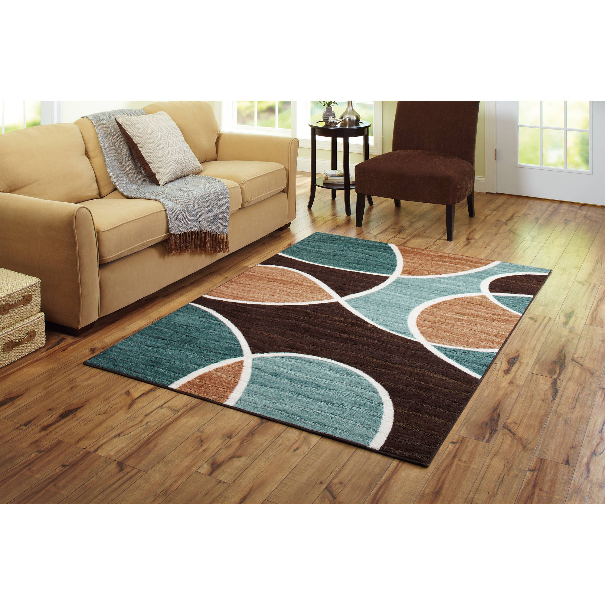 better homes and gardens geo waves area rug or runner - walmart