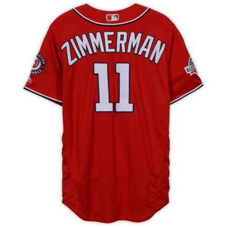 brand new d7390 e0e1c Ryan Zimmerman Washington Nationals Game-Used #11 Red Jersey with All-Star  Game Patch vs. Atlanta Braves on September 15, 2018 - Fanatics Authentic ...