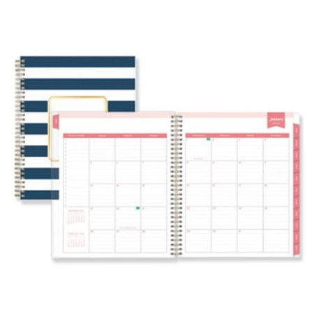Day Designer for Blue Sky 2020 Year, Daily & Weekly Planner, Flexible Cover, Twin-Wire Binding, 8
