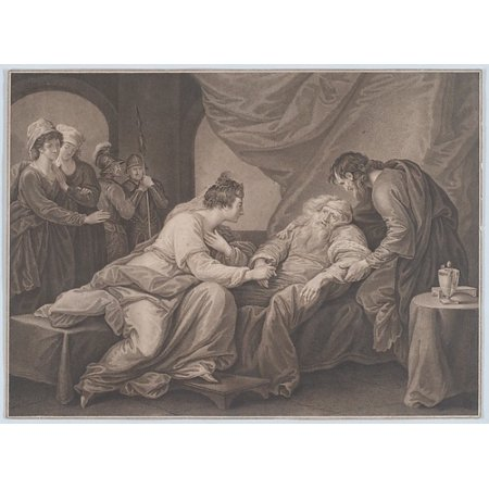 King Lear And Cordelia  Shakespeare King Lear Act 4 Scene 7  Poster Print By After Benjamin West  American Swarthmore Pennsylvania 1738   1820 London   18 X 24