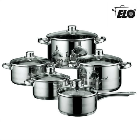 Elo Skyline Stainless Steel Kitchen Induction Cookware Pots And Pans Set With Air Ventilated
