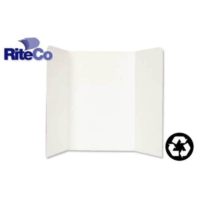 RiteCo Raydiant 22101 Riteco Tri-Fold Presentation Boards 48 In. X 36 In. White , 24 Pack